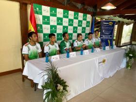 Boris Arias, Federico Zeballos, Hugo Dellien, Oscar Blacutt (c), Alejandro Mendoza, Murkell Dellien,
